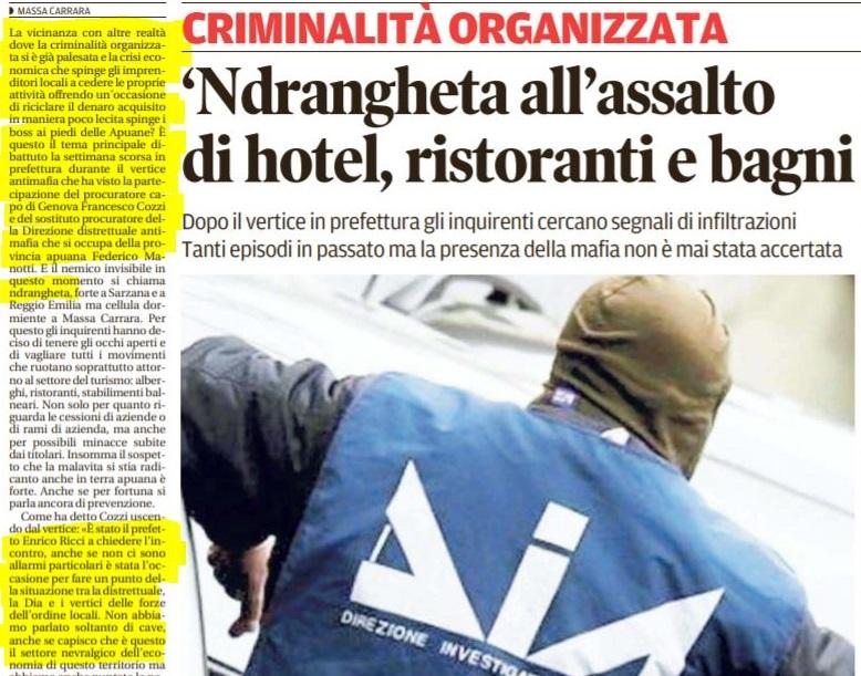 INCONTRO COL PREFETTO SU INFILTRAZIONI MAFIOSE A MASSA - M5S notizie m5stelle.com